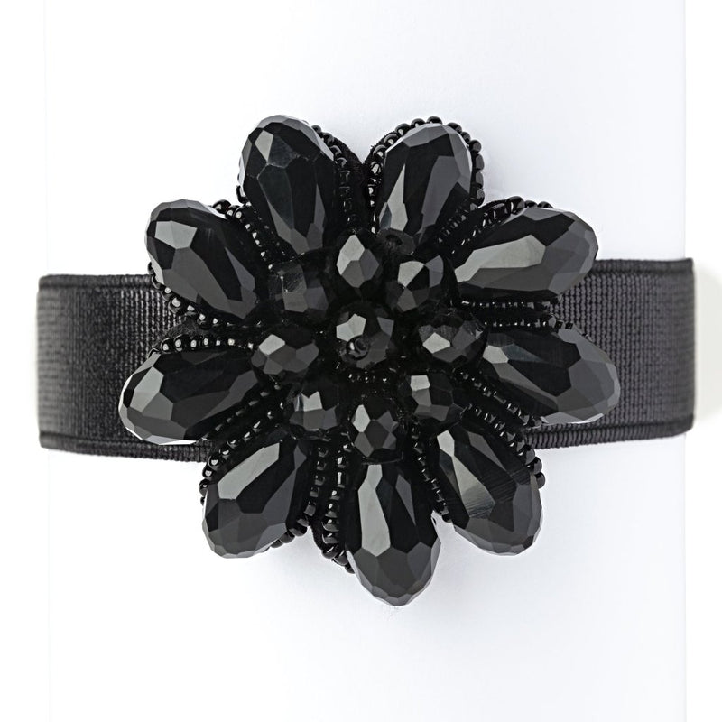 Black Flower Power Shoe Jewelz