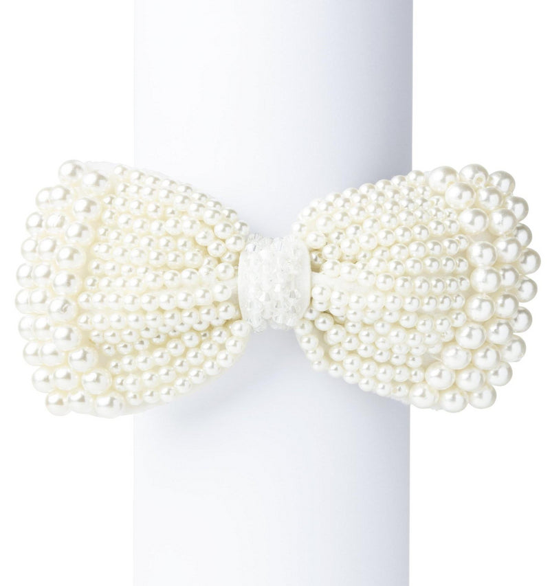 The Steinback Pearl Bow Shoe Jewelz - SSY Designs