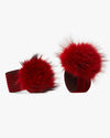 Red Pom Shoe Embellishment