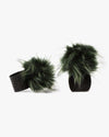 Olive Green Pom Pom Shoe Accessories