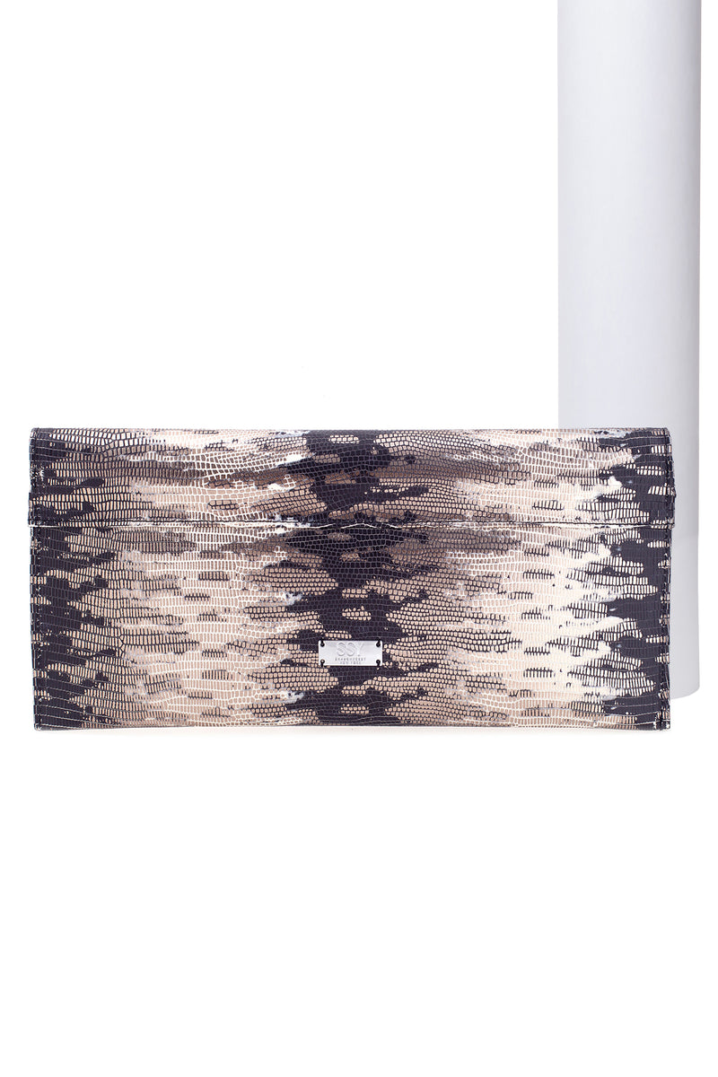 The Gabriel Clutch in Bronze Snake Effect- Limited Edition - SSY Designs