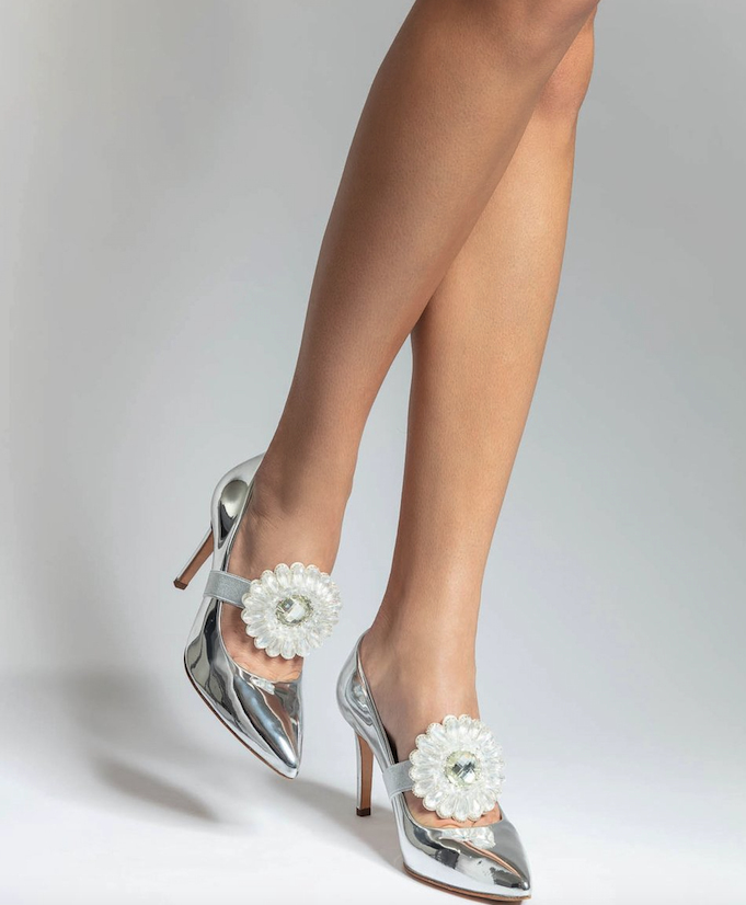 Clearly-A-Flower Shoe Jewelz