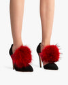 Red Pom Shoe Clip