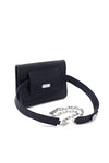 TRIPLE THREAT BELT BAG IN BLACK CROC EMBOSSED - SSY Designs