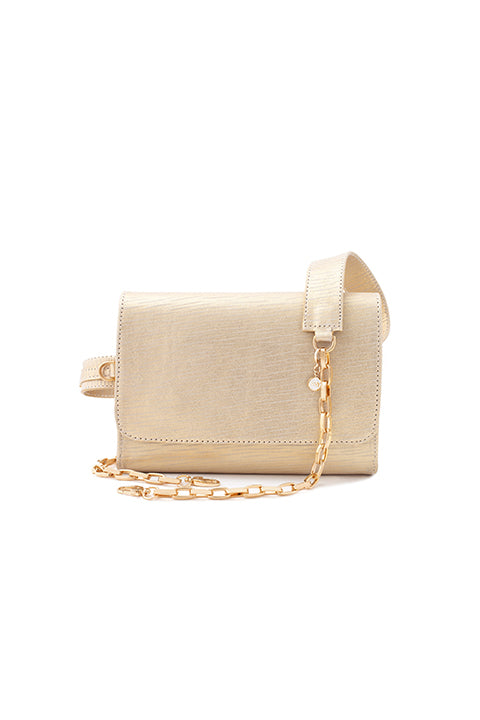 TRIPLE THREAT BELT BAG IN GOLD PLATINUM - SSY Designs