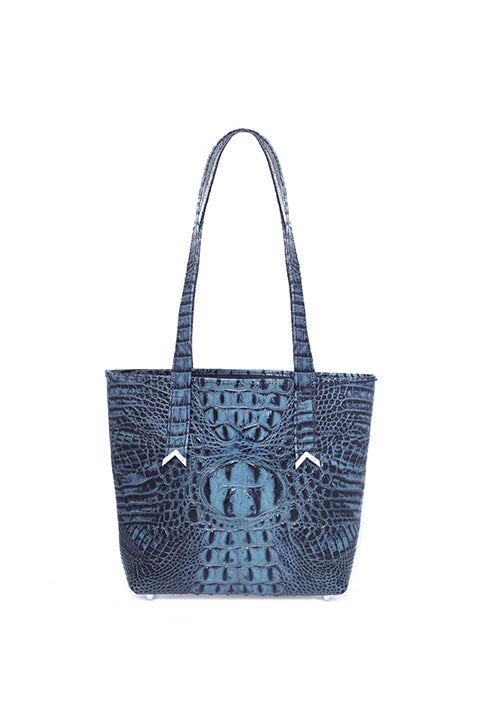 Lita Tote In Blue Croc - SSY Designs
