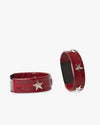 Red Leather Star Shoe Clip