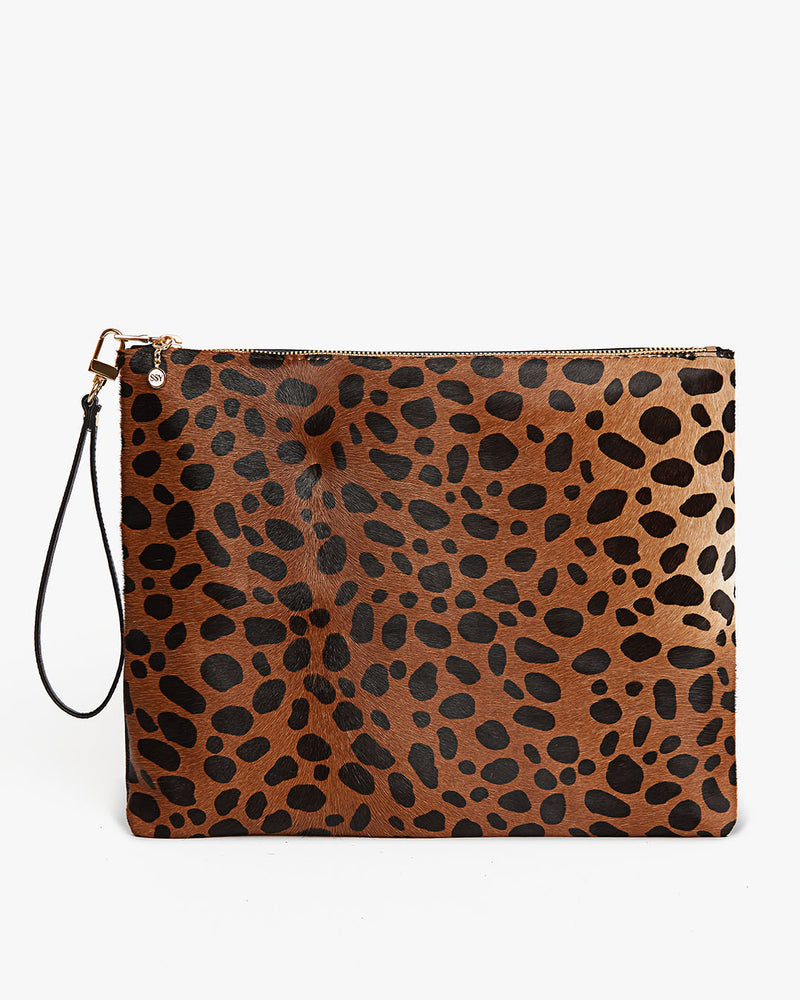 Cheetah Bag - Clutch - Wristlet - Made in USA