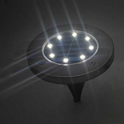 Waterproof Solar Powered LED Disk Lights - Trinket City