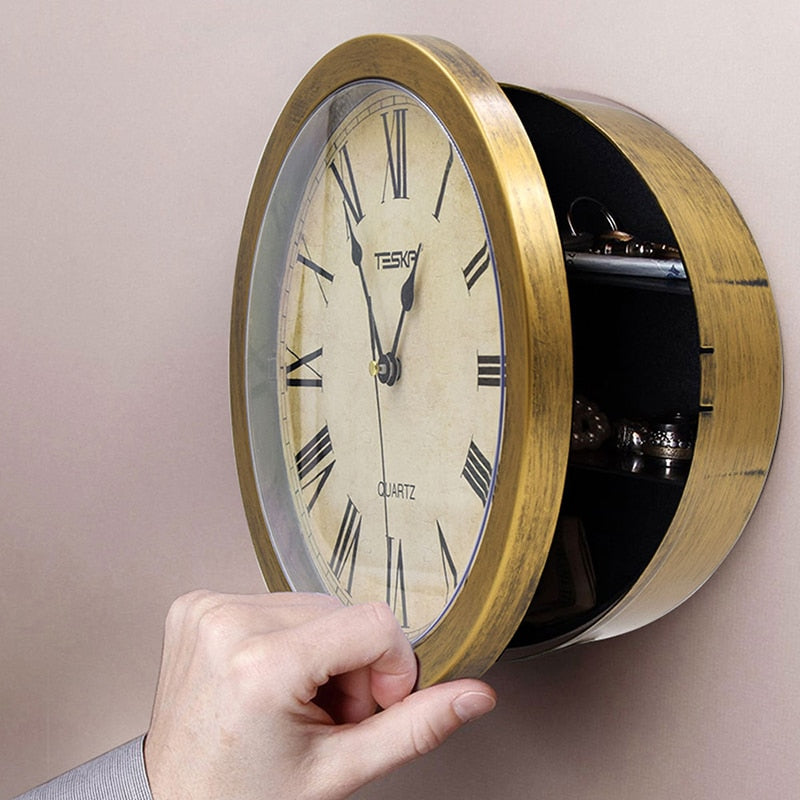 Secret Safe Wall Clock - Trinket City