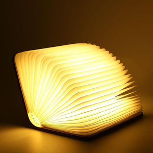 Portable Fold-able Wooden Book Lamp - Trinket City