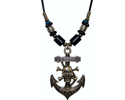 Necklace Anchor Skull Large