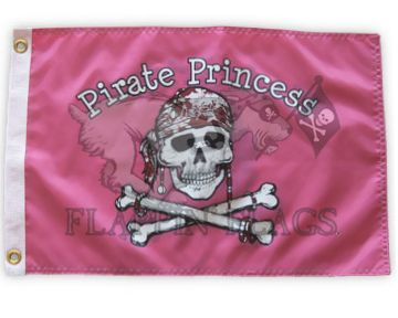 Flag 12x18 Pirate Princess