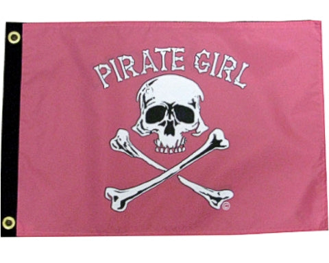 Flag 12x18 Pirate Girl