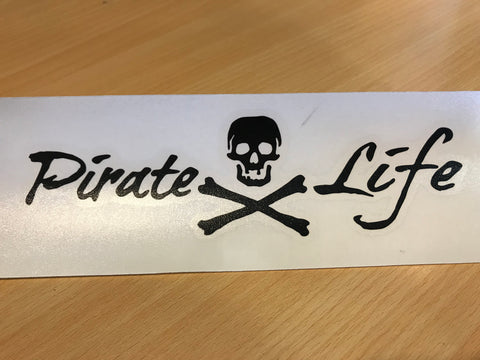 Decal Pirate Life Lrg Blk