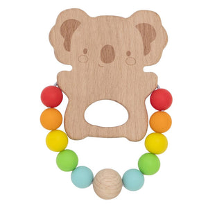 Wood and Silicone Teether - Koala