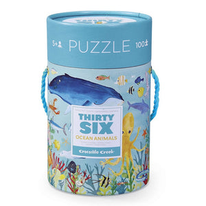 Crocodile Creek: 36 Animal Puzzle 100pc Ocean Animals