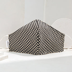 Black Gingham 3 Layered Face Mask - Preorder Now due approx 15th August