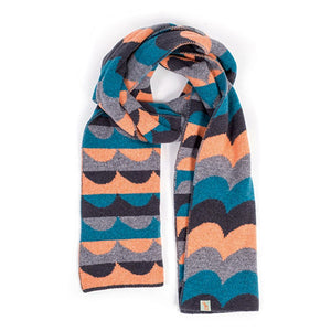 Them Scarf peach blue blk