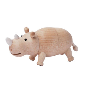 Wooden Magnet clip Rhino