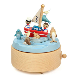 Wooderful Life: Music Box Sailors and Dolphins