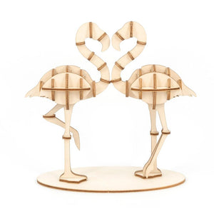 Wooden Puzzle - Flamingo