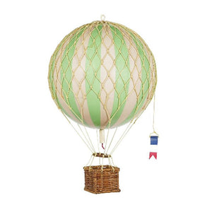 AM Living: Hot Air Balloon Ornament Green