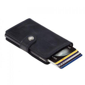 Secrid: Miniwallet Vintage Black Leather