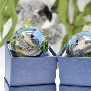 Triple 8 Design: Hand-painted Glass Bauble Koalas