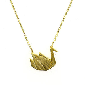 Necklace Swan Gold