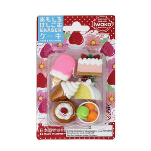 Puzzle Erasers Blister Pack - Dessert