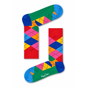 Argyle Sock Blue Green Red