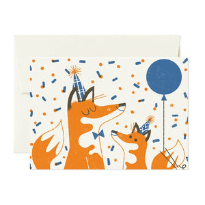 Greeting Card Foxes