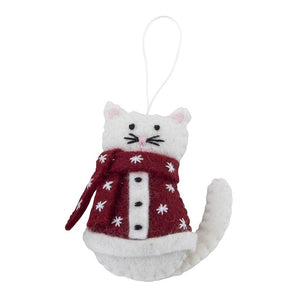 Ornament Cats in Coats White