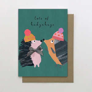 Stop The Clock: Greeting Card Dotty Lots of Hedgehugs