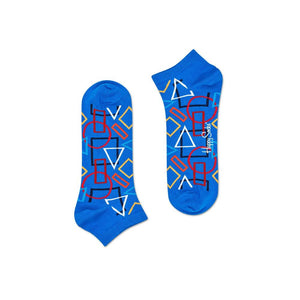 Geometric Low Sock Blue Multi