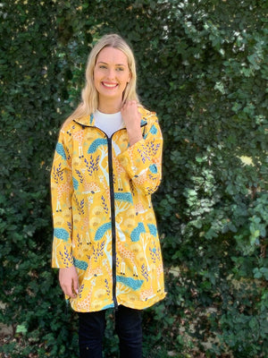 Raincoats: Giraffe Mimosa Long