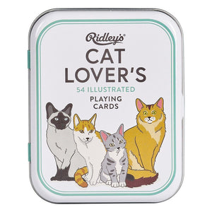 Ridley's: Cat Lovers Playing Cards White