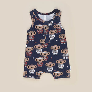 Huxbaby: Tiny Tennis Sleeveless Romper Navy