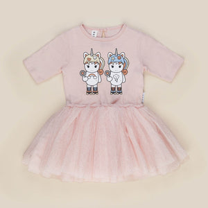 Huxbaby: Roller Twins Ballet Dress Rose