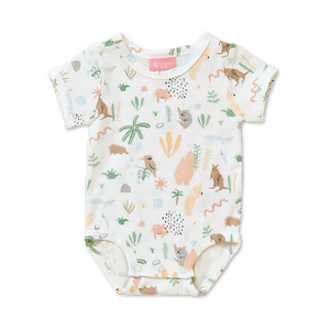 Halcyon Nights: Short Sleeve Bodysuit Outback Dreamer