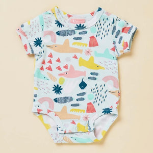 Halcyon Nights: Short Sleeve Bodysuit Swim Team