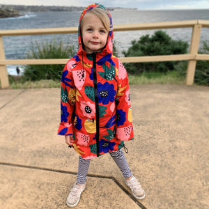 Raincoat: Summer Flowers Kid
