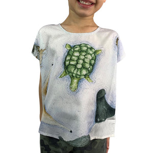 Floating Animals Kids Top