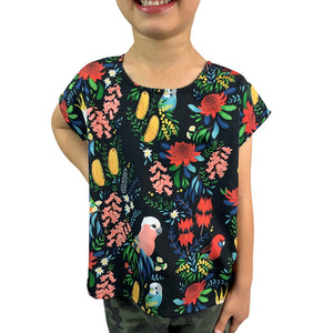 Bush Parrots Kids Top