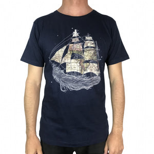 Wherever the Wind Blows Navy Mens Tee