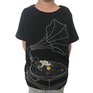 Galactic DJs Charcoal Kids Tee
