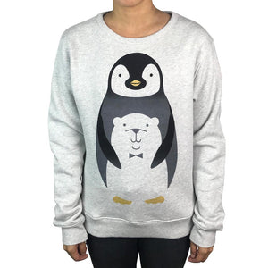 Penguin Hug Grey Marle Jumper