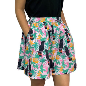 Black Cockatoos Skirt