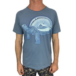 Turtle Home Steel Blue Mens Tee